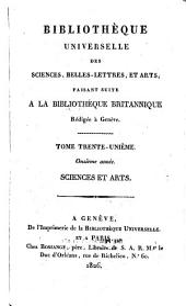 Bibliothèque universelle des sciences, belles-lettres et arts: Volume31
