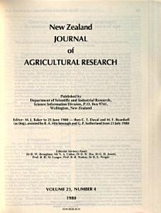 New Zealand Journal of Agricultural Research PDF