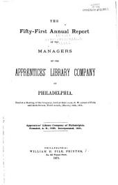 Annual Report of the Managers of the Apprentices' Library Company of Philadelphia