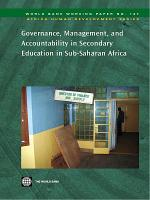 Governance  Management  and Accountability in Secondary Education in Sub Saharan Africa PDF