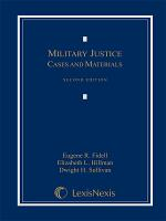Military Justice  Cases and Materials PDF