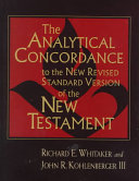 The Analytical Concordance to the New Revised Standard Version of the New Testament PDF