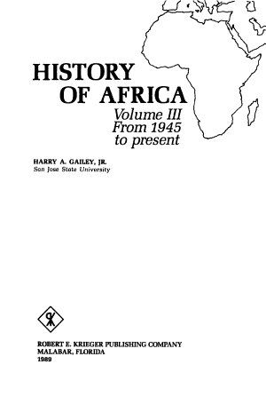 History of Africa  From 1945 to present