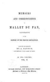 Memoirs and correspondence of Mallet du Pan: illustrative of the history of the French revolution, Volume 2