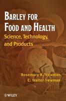 Barley for Food and Health PDF