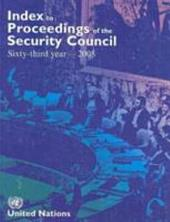 Index to Proceedings of the Security Council 2008