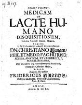 De lacte humano; praes. Christianus Lange