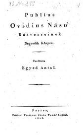 Busverseinek negyedik könyve. Ford. Egyed Antal. (Der Klagelieder 4. Buch.) - Pest, Trattner 1823