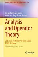 Analysis and Operator Theory PDF