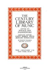 The Century Library of Music: Volume 11