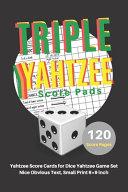 Triple Yahtzee Score Pads