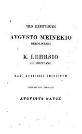 Tragödiae superstites et deperditarum fragmenta ex recensione Aug. Nauck