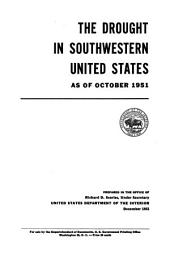 The drought in southwestern United States as of October 1951