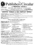 The Publishers' Circular and Booksellers' Record of British and Foreign Literature