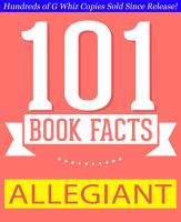 Allegiant   101 Amazing Facts You Didn t Know PDF