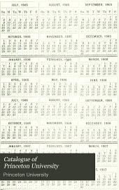 Princeton University Catalogue