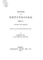 Notes on Thucydides, Book I