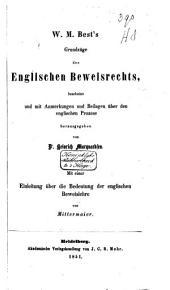 Grundzüge des englischen Beweisrechts
