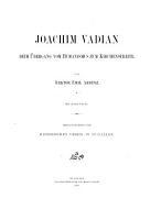 Joachim Vadian beim   bergang vom Humanismus zum Kirchenstreite PDF