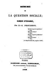 Résumé de la question sociale: Banque d'échange
