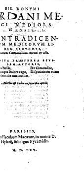 Contradictiones medicae: quorum primus centum & octo alter vero totidem disputationes continet, Volume 2