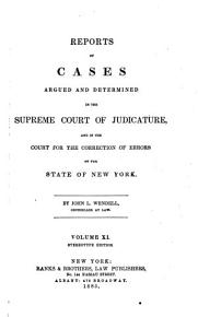 Reports of Cases Argued and Determined in the Supreme Court of the State of New York  Wendell v 1 26 PDF