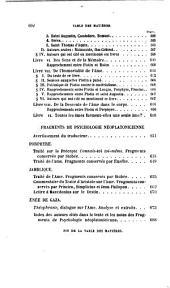 Les ennéades de Plotin, tr., accompagnées de sommaires, de notes [&c.] par M.-N. Bouillet