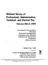 National survey of professional, administrative, technical, and clerical pay