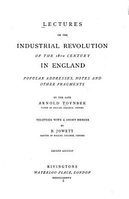 Lectures on the Industrial Revolution in England PDF