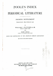Poole's index to periodical literautre: Volume 5