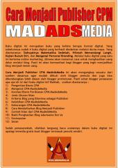 Cara Menjadi Publisher CPM MadAdsMedia