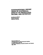 Nontraditional Export Crops in Guatemala: Effects on Production, Income, and Nutrition