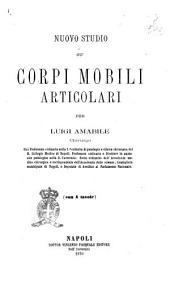 Nuovo studio su'corpi mobili articolari, per Luigi Amabile