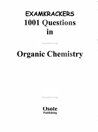 Examkrackers 1001 Questions in MCAT Organic Chemistry PDF