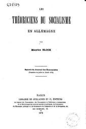 Les théoriciens du socialisme en Allemagne par Maurice Block