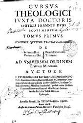 De scientia Dei, De voluntate Dei, De praedestinatione, De Trinitate