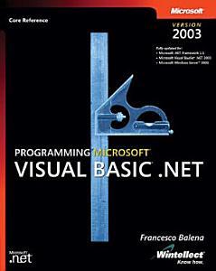 Programming Microsoft Visual Basic  NET Version 2003 PDF
