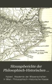 Sitzungsberichte der Kaiserlichen Akademie der Wissenschaften, Philosophisch-Historische Klasse