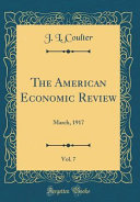 The American Economic Review  Vol  7 PDF