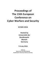Eccws2016 Proceedings Fo The 15th European Conference On Cyber Warfare And Security  Book PDF