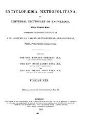 Encyclopaedia Metropolitana: Miscellaneous and lexicographical