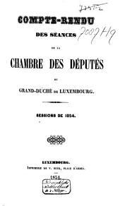 Compte-rendu des séances de la Chambre des Députes du Grand-Duché de Luxembourg: Session ordinaire, Volume5