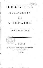 Oeuvres complètes de Voltaire: Volumes43à70