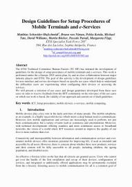 Design Guidelines For Setup Procedures Of Mobile Terminals And E Services