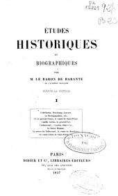 Etudes historiques et biographiques