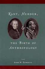 Kant, Herder, and the Birth of Anthropology