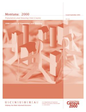 Census of population and housing  2000   Montana Population and Housing Unit Counts PDF