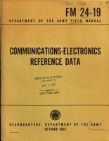 Communications electronics Reference Data PDF