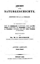 Archiv für Naturgeschichte: Band 8