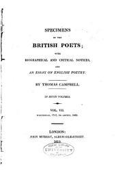 Whitehead, 1785, to Anstey, 1805